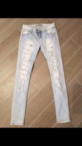 Lexxury pantalón de cintura baja blanco