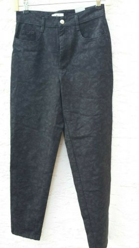 Hose von Mac stretchig mit Muster schwarz Größe 38