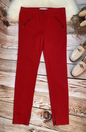 Mango Suit Low-Rise Trousers red
