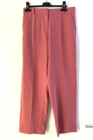 Mango Pantalón de pinza alto rojo claro-rosa