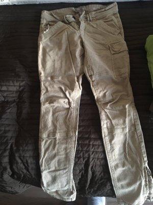 Marc O'Polo Pantalon en velours côtelé crème
