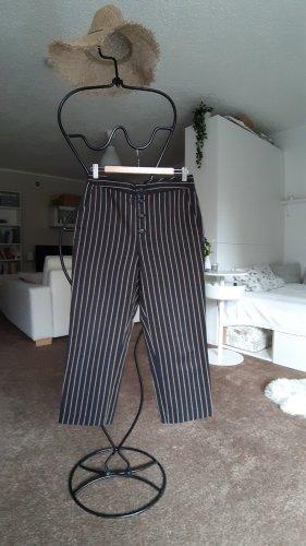 Massimo Dutti 3/4 Length Trousers black-light brown cotton