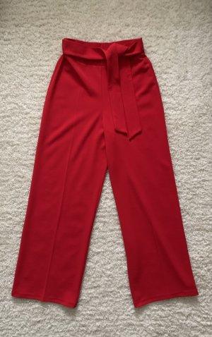 Miss Selfridge Pantalón de campana rojo