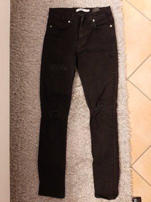 Nakd Jeans a vita alta nero