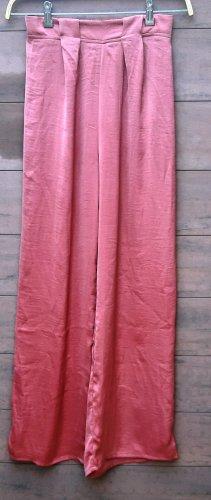 New Look Pantalone a zampa d'elefante rosso mattone-rosso Poliestere