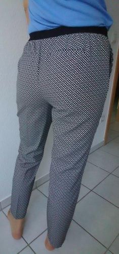 Opus 7/8 Length Trousers white-black