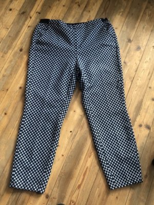 Opus 7/8 Length Trousers dark blue-pale blue polyester