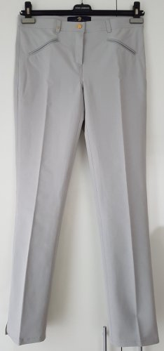 Pamela Henson Stretch Trousers silver-colored-light grey cotton
