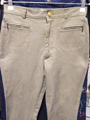 Pamela Henson Spodnie khaki zielono-szary
