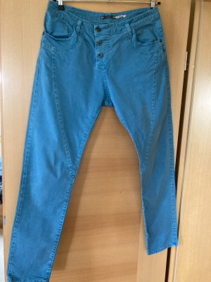 Please Pantalone a vita bassa blu cadetto