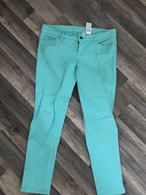 Rainbow Jeansy ze stretchu turkusowy
