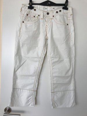 Replay Pantalon 3/4 blanc-crème