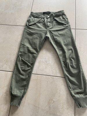 Replay Spodnie khaki khaki Bawełna