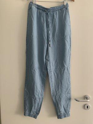 Reserved Pantalon «Baggy» bleu azur lyocell