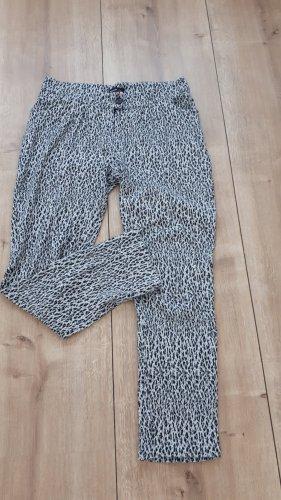 Rockgewitter Pantalón de lana blanco-negro