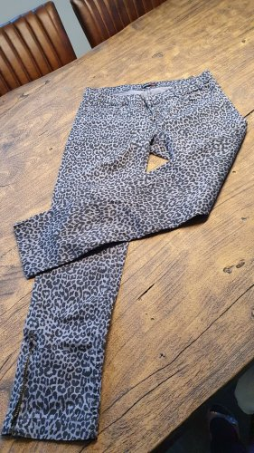 Rockgewitter Pantalon taille basse noir-gris