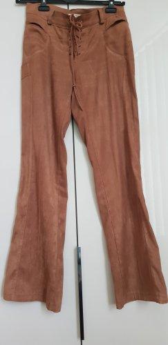 Sandro Pantalone a zampa d'elefante marrone chiaro-cognac