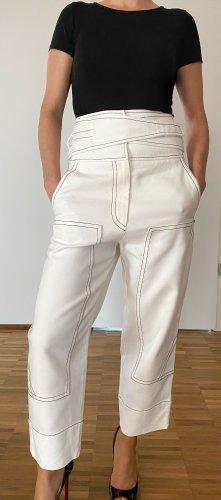 Sportmax Pantalón tobillero blanco puro-blanco Algodón