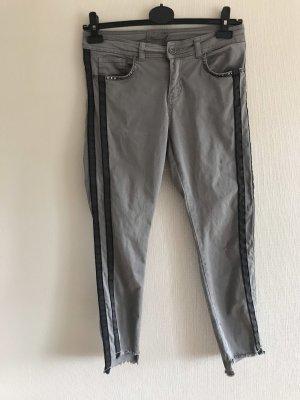 Stehmann Pantalone a 7/8 nero-grigio