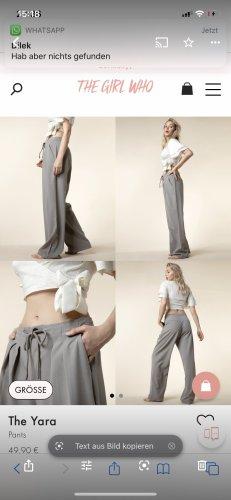 The Girl Who Pantalone a pieghe grigio