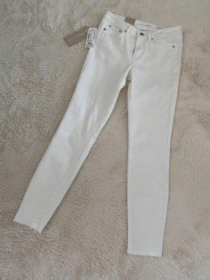 Tom Tailor Drainpipe Trousers white