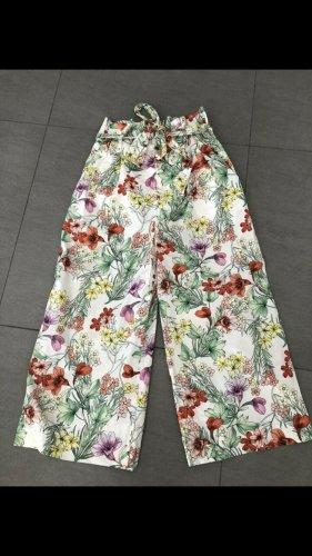 Zara Woman Pantalón anchos rojo-verde