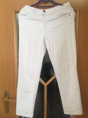 Pantalon taille basse blanc