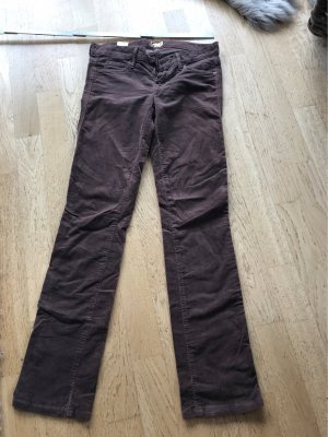 Mother Pantalone a vita bassa marrone scuro