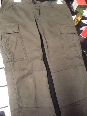 Spodnie biodrówki khaki Bawełna