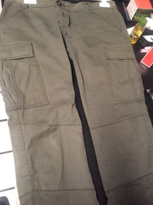 Pantalone a vita bassa cachi Cotone