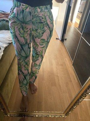 Hose XL 42 Palmen nude grün
