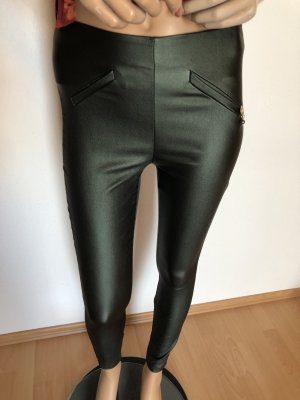 Rinascimento Leather Trousers multicolored viscose