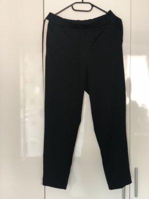 Zara Trafaluc Pantalon 7/8 noir-blanc
