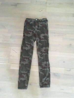 Zara Kaki broek brons-khaki