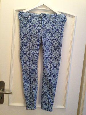 Zara Pantalón de tubo azul oscuro-azul aciano