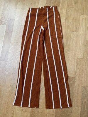 Zara Hoge taille broek cognac-wolwit