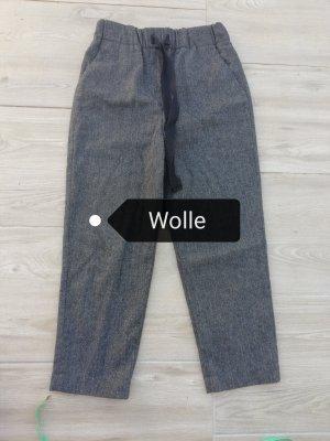 Zara Basic Pantalon en laine gris foncé-taupe