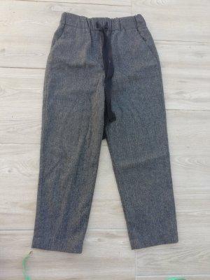 Zara Wełniane spodnie ciemnoszary-taupe