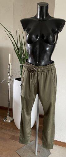 Zhrill Spodnie typu boyfriend zielono-szary Poliester