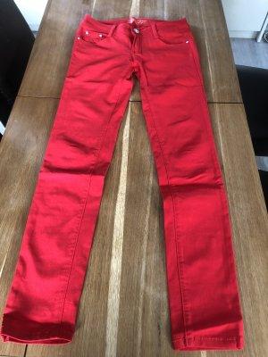 Pantalón de pinza alto rojo