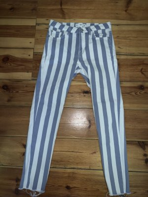Mango Hoge taille jeans wit-korenblauw