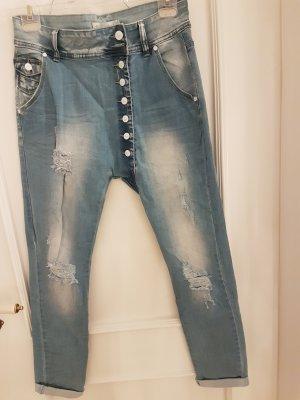 Jeans boyfriend bleu pâle