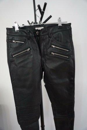 H&M Divided Leren broek zwart