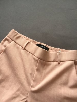 Pantalone largo bianco-color oro rosa