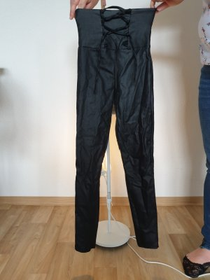 Butik Leather Trousers black