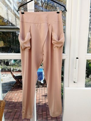 Object Pantalone di lino rosa antico-rosa pallido