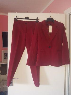 Trouser Suit carmine-bordeaux