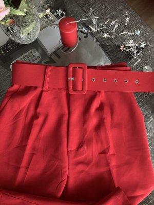 181 Pantalone a pieghe rosso