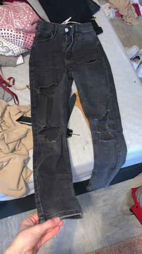 Topshop Skinny jeans donkergrijs-donkerblauw