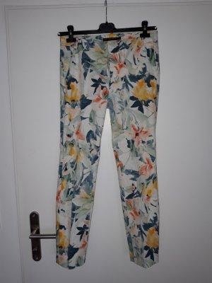 Zara Peg Top Trousers multicolored cotton